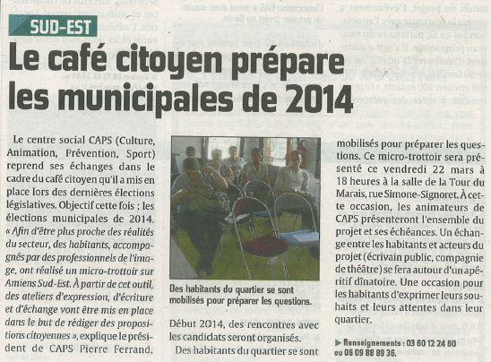 ARTICLE DE PRESSE CAFE CITOYEN